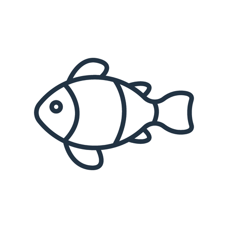 Clown fish icon vector isolated on white background, Clown fish transparent sign