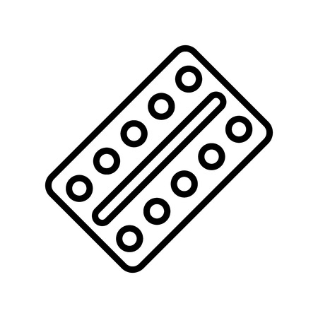 Pills icon vector isolated on white background, Pills transparent sign , line and outline elements in linear style 向量圖像