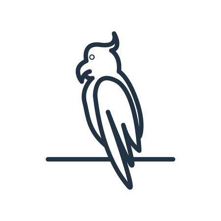 Parrot icon vector isolated on white background, Parrot transparent sign Stock Illustratie