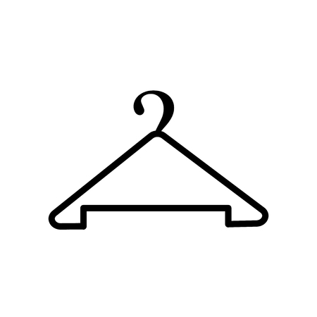 Hanger icon vector isolated on white background, Hanger transparent sign , line or linear sign, element design in outline style