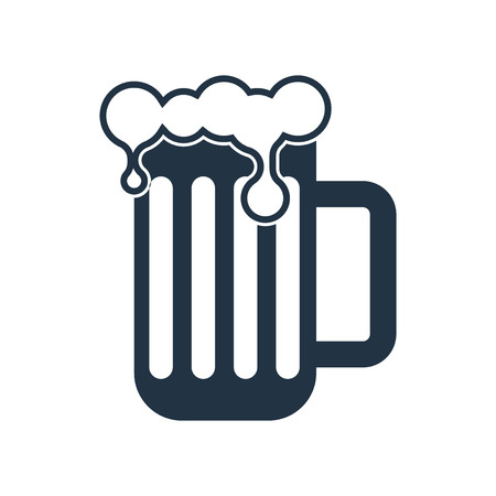 Beer icon vector isolated on white background, Beer transparent sign