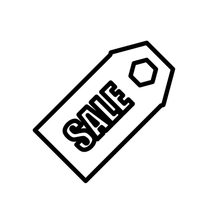 Sales icon vector isolated on white background, Sales transparent sign , line or linear sign, element design in outline style
