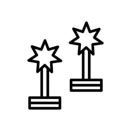 Award icon vector isolated on white background, Award transparent sign , line and outline elements in linear style