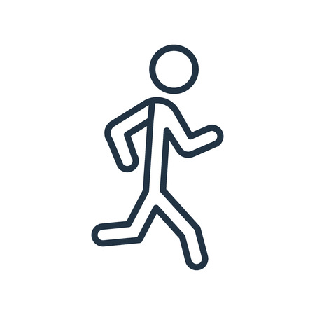 Jogging icon vector isolated on white background, Jogging transparent sign Ilustracja