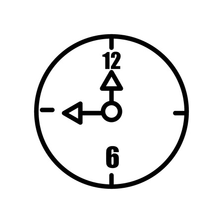 Alarm clock icon vector isolated on white background, Alarm clock transparent sign , line and outline elements in linear style Иллюстрация