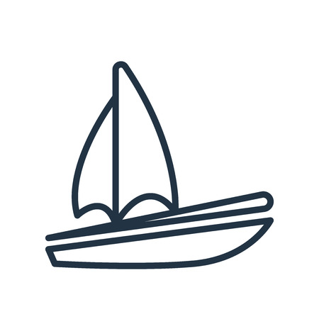 Sail icon vector isolated on white background, Sail transparent sign