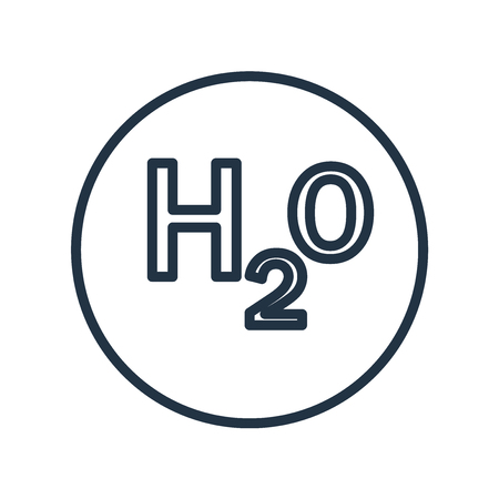 H2o icon vector isolated on white background, H2o transparent sign