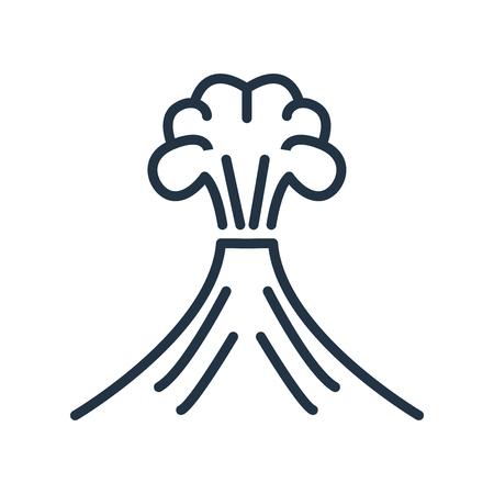 Vector icono de volcán aislado sobre fondo blanco, signo transparente de volcán