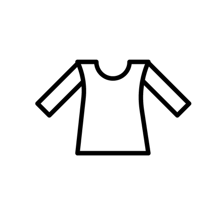 Shirt icon vector isolated on white background, Shirt transparent sign , line or linear sign, element design in outline style