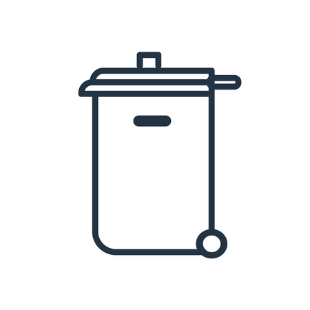 Trash bin icon vector isolated on white background, Trash bin transparent sign