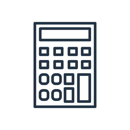 Calculator icon vector isolated on white background, Calculator transparent sign Ilustração