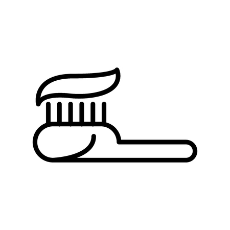 Toothpaste icon vector isolated on white background, Toothpaste transparent sign , line and outline elements in linear style