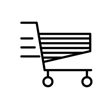 Cart icon vector isolated on white background, Cart transparent sign , line or linear sign, element design in outline style Illustration