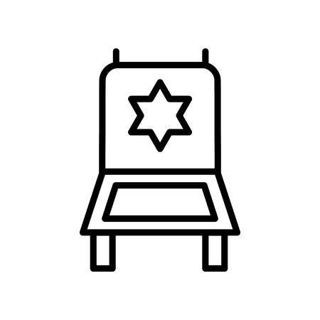 Director chair icon vector isolated on white background, Director chair transparent sign , line and outline elements in linear style Illustration