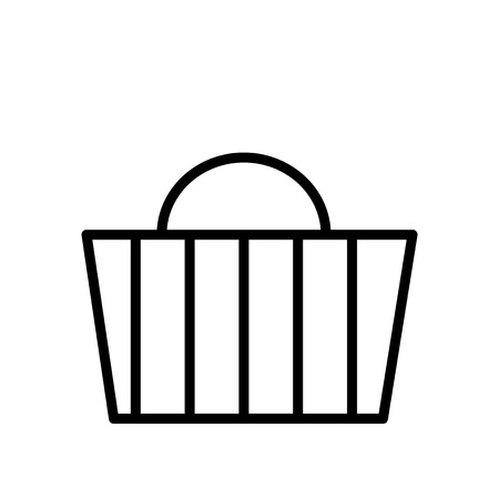Basket icon vector isolated on white background, Basket transparent sign , line or linear sign, element design in outline style