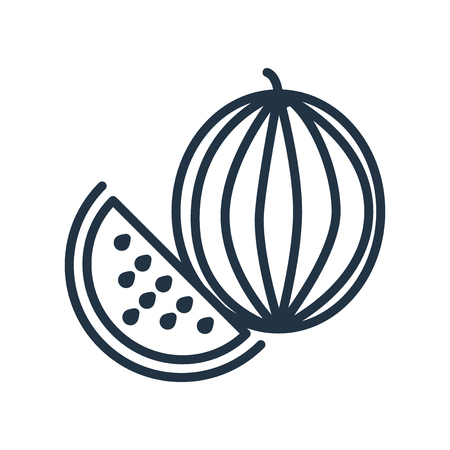 Watermelon icon vector isolated on white background, Watermelon transparent sign