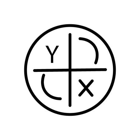 Vecteur d'icône d'axe isolé sur fond blanc, éléments transparents de signe, de ligne et de contour d'axe dans le style linéaire Vecteurs