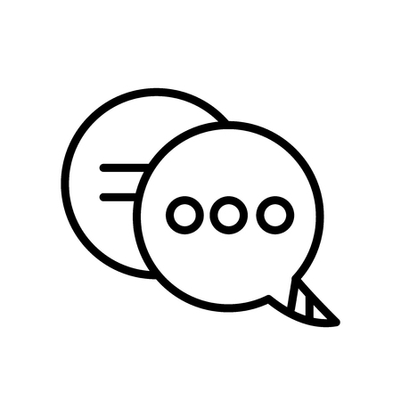 Chat icon vector isolated on white background, Chat transparent sign , line or linear sign, element design in outline style