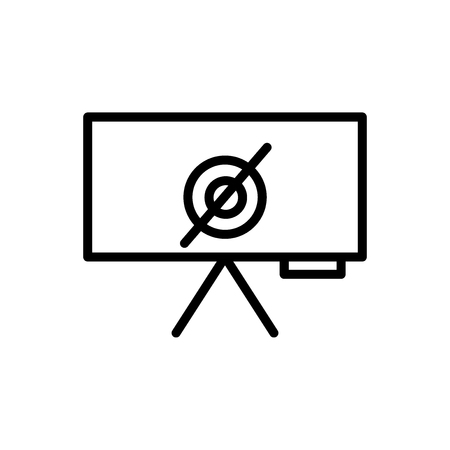 Empty set icon vector isolated on white background, Empty set transparent sign , line and outline elements in linear style