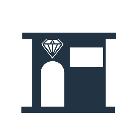 Jewelry store icon vector isolated on white background, Jewelry store transparent sign