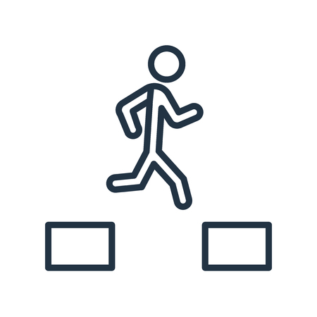 Parkour icon vector isolated on white background, Parkour transparent sign