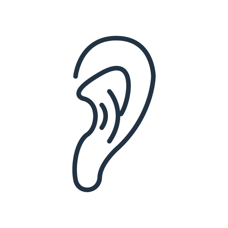 Listening icon vector isolated on white background, Listening transparent sign