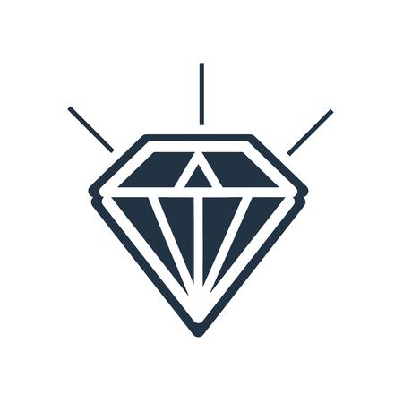 Diamond icon vector isolated on white background, Diamond transparent sign Vecteurs