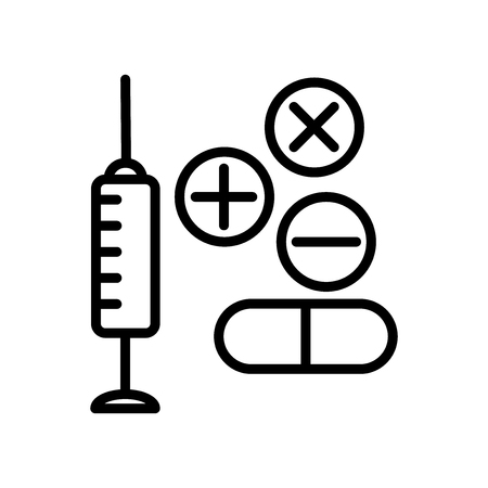 Drugs icon vector isolated on white background, Drugs transparent sign , line and outline elements in linear style Illustration
