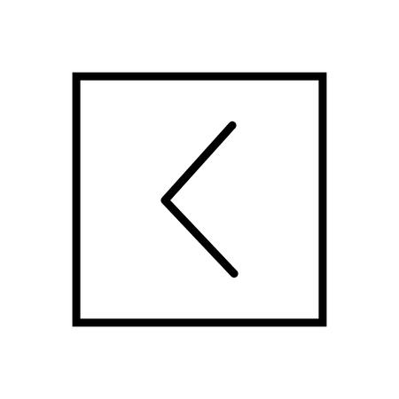 È inferiore all'icona vettoriale isolato su sfondo bianco, è inferiore agli elementi trasparenti di segno, linea e struttura in stile lineare