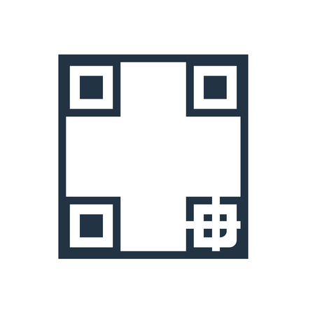 Qr code icon vector isolated on white background, Qr code transparent sign