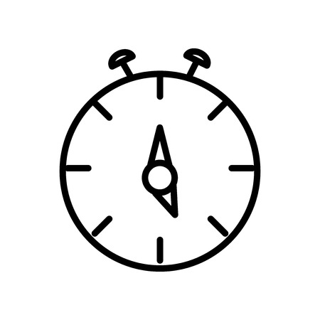 Stop watch icon vector isolated on white background, Stop watch transparent sign , line and outline elements in linear style Archivio Fotografico - 107132847