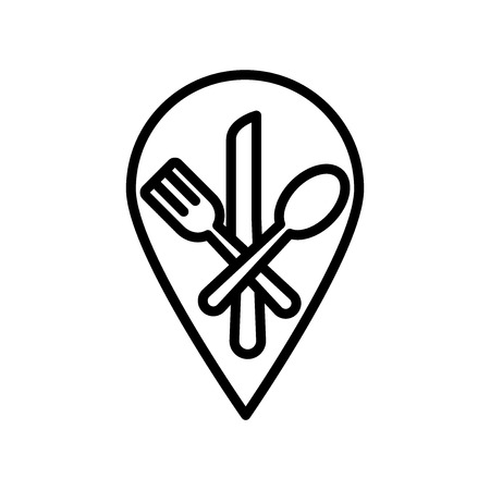 Restaurant icon vector isolated on white background, Restaurant transparent sign , line and outline elements in linear style