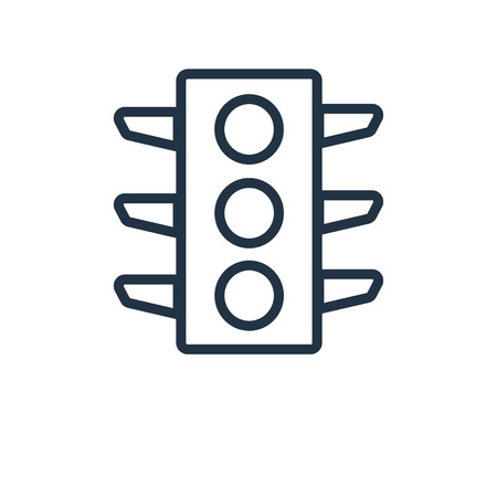 Traffic lights icon vector isolated on white background, Traffic lights transparent sign Illustration
