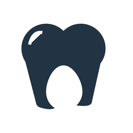 Tooth icon vector isolated on white background, Tooth transparent sign