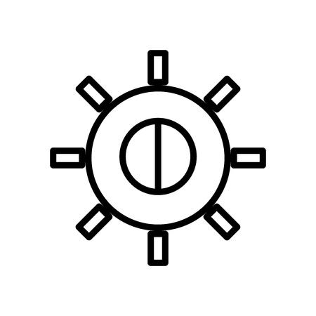 Vector icono de brillo aislado sobre fondo blanco, signo transparente de brillo, elementos de línea y contorno en estilo lineal Ilustración de vector
