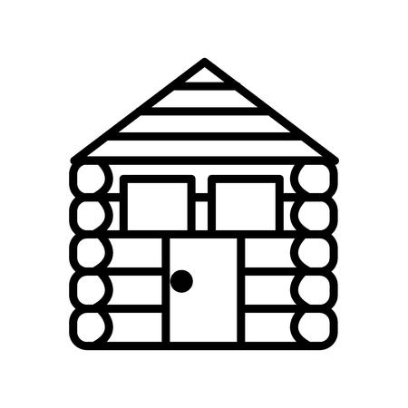 Cabina icona vettoriale isolato su sfondo bianco, segno trasparente cabina, linea o segno lineare, elemento di design di una struttura