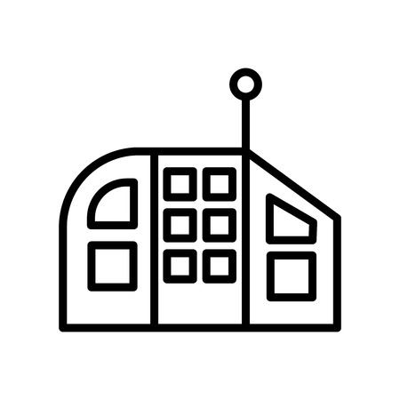 Future House icon vector isolated on white background, Future House transparent sign , line or linear sign, element design in outline style