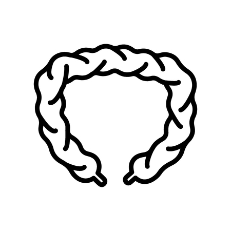 Intestines icon vector isolated on white background, Intestines transparent sign , line and outline elements in linear style