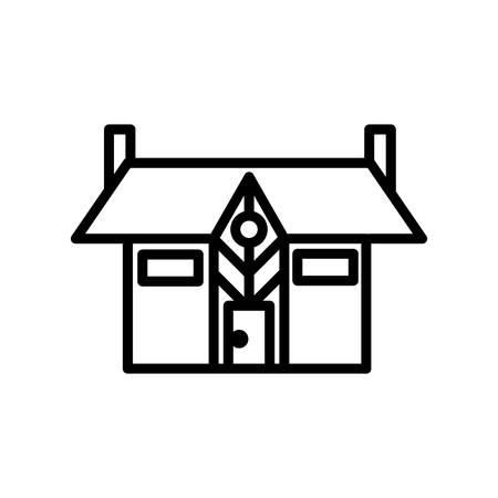 Mansion icon vector isolated on white background, Mansion transparent sign , line or linear sign, element design in outline style 写真素材 - 111604534
