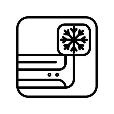 Air conditioner icon vector isolated on white background, Air conditioner transparent sign , line and outline elements in linear style Illustration