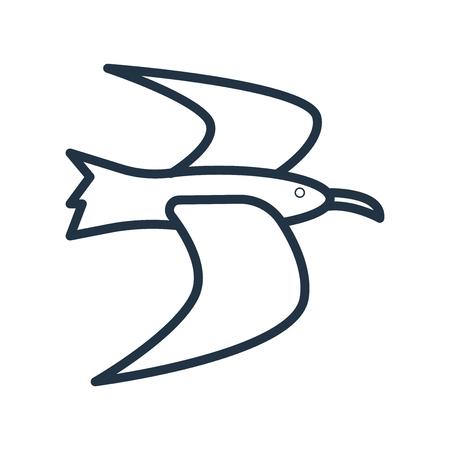 Albatross icon vector isolated on white background, Albatross transparent sign Illustration