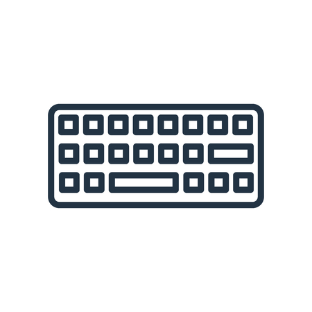 Keyboard icon vector isolated on white background, Keyboard transparent sign 向量圖像