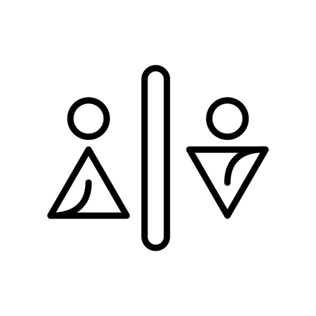 Toilets icon vector isolated on white background, Toilets transparent sign , line and outline elements in linear style