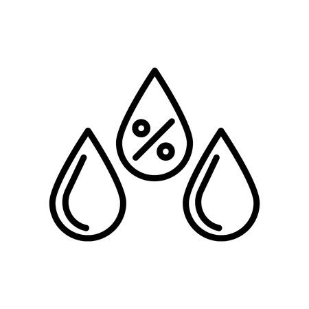 Umidità icona vettoriale isolato su sfondo bianco, segno trasparente di umidità, elementi di linea e contorno in stile lineare Vettoriali