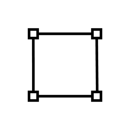 Square icon vector isolated on white background, Square transparent sign , line and outline elements in linear style