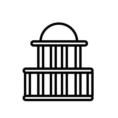 Government buildings icon vector isolated on white background, Government buildings transparent sign , line or linear sign, element design in outline style Stock Vector - 107132678