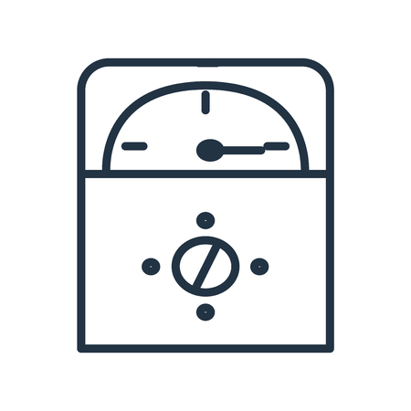Voltmeter icon vector isolated on white background, Voltmeter transparent sign Illustration