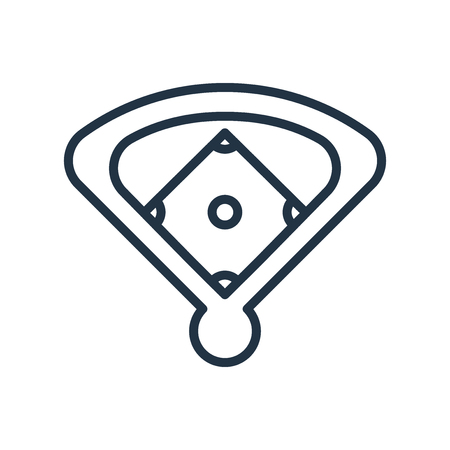 Baseball field icon vector isolated on white background, Baseball field transparent sign Stock Illustratie