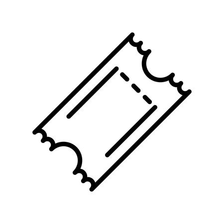 Ticket-Symbol-Vektor lokalisiert auf weißem Hintergrund, Ticket transparentes Zeichen, Linie und Umrisselemente im linearen Stil Vektorgrafik