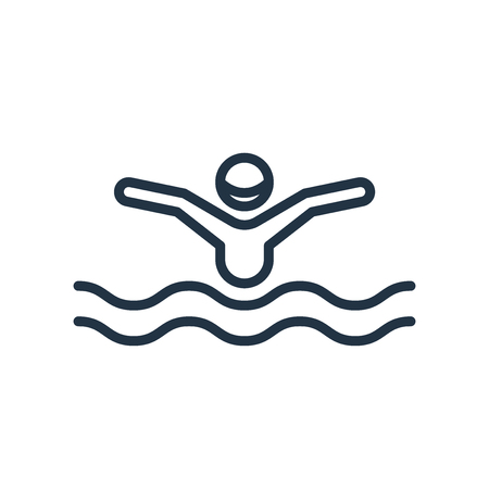 Swimming icon vector isolated on white background, Swimming transparent sign Foto de archivo - 111604633